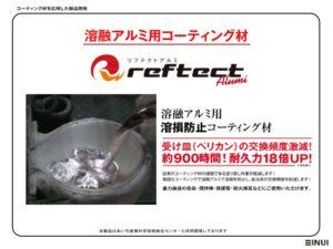 リフテクトアルミ,溶融アルミ用コーティング材